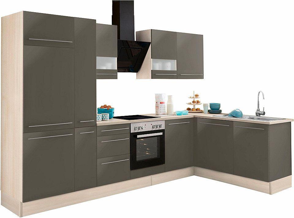 Optifit Winkelküche ohne E-Geräte »Bern«, Stellbreite 315 x 175 cm - küchenzeilen ohne geräte
