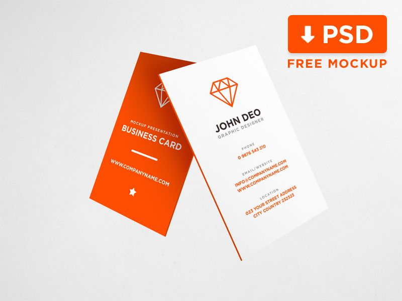 Business Card Mockup Download Free