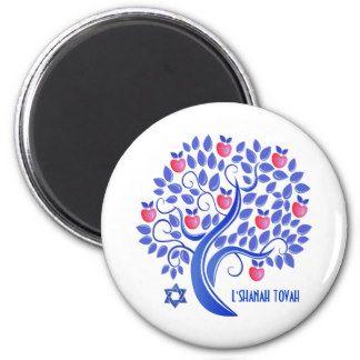 L'Shanah Tovah. Apple Tree and Star of David Jewish New ...
