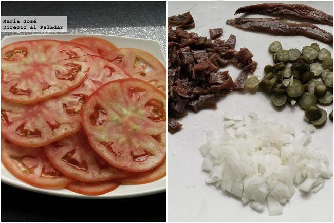 El tomate combina estupendamente con un sinfín de ingredientes. Además, algunos ejemplares son especialmente deliciosos, con un aroma y un sabor intensos.  Ingredientes para 4 personas  2 tomates