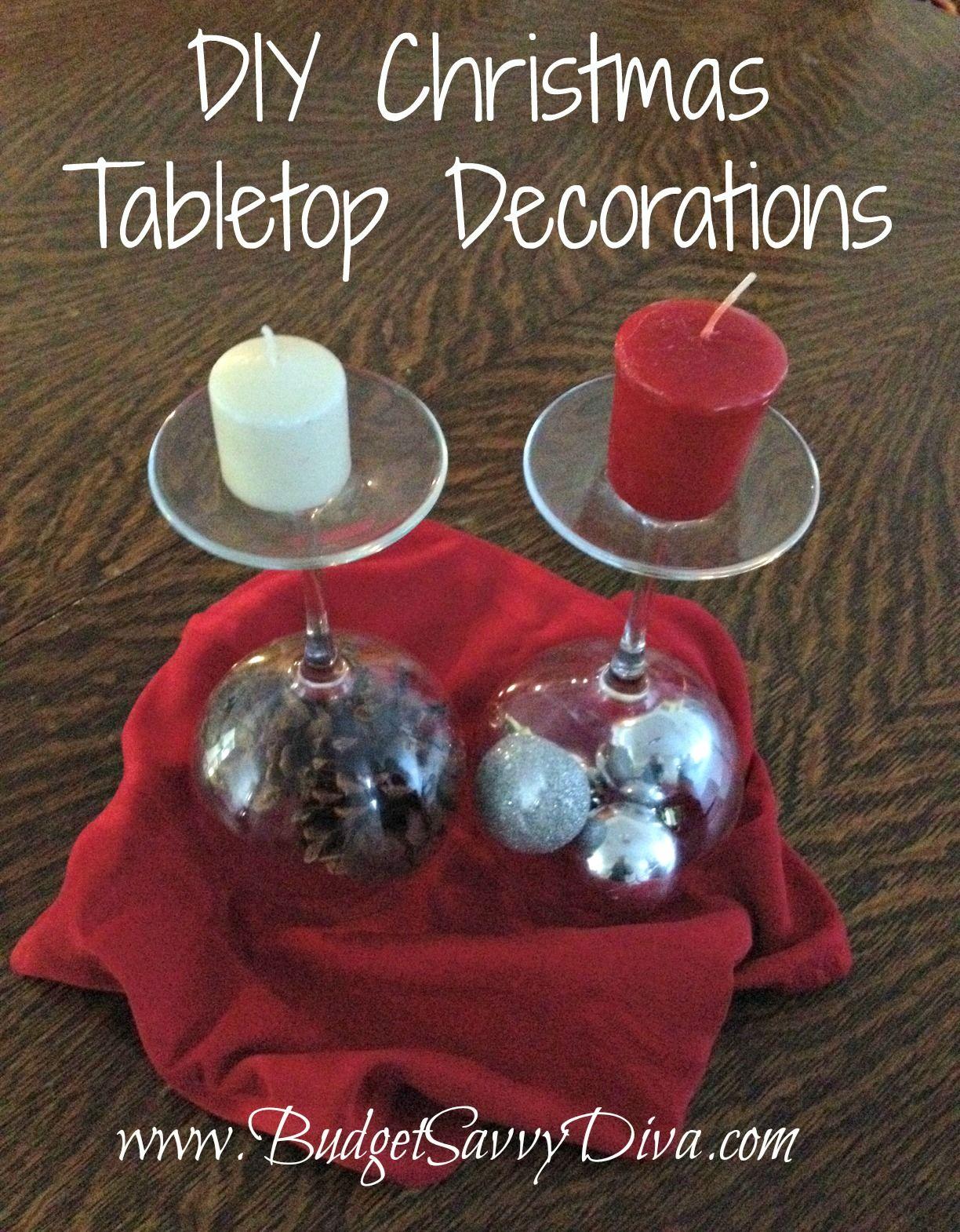 Diy Christmas Decorations Using Wine Glass And Candles Christmas Decor Diy Diy Christmas Pictures Christmas Candles Diy
