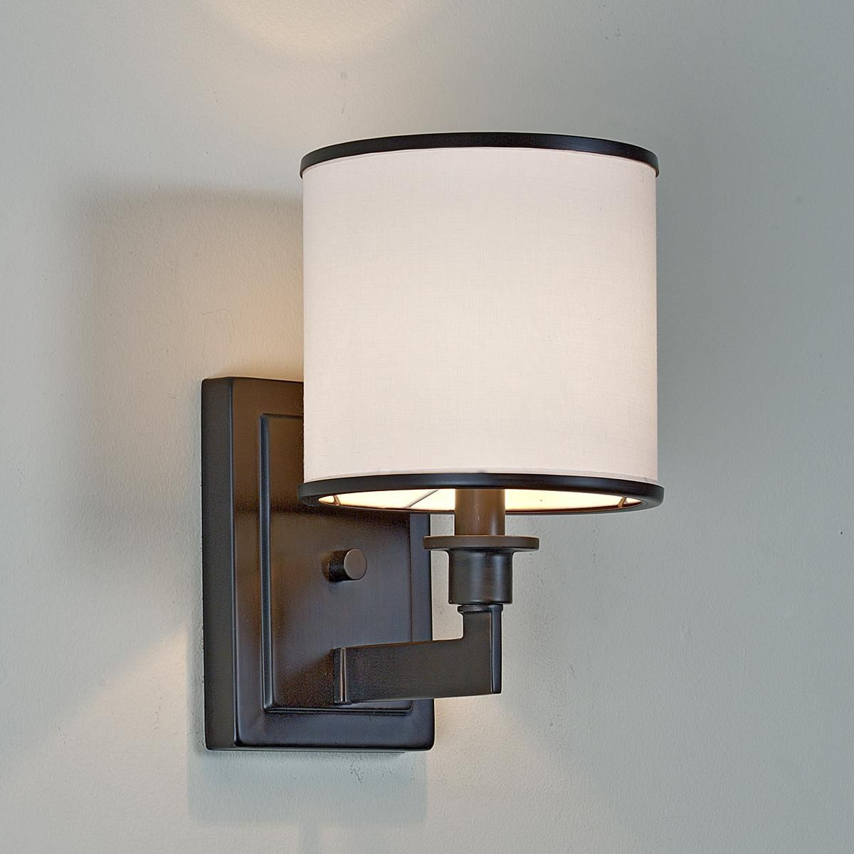 Soft Contemporary Sconce 1 Light  Contemporary Lights And Wall Extraordinary Wall Sconces Bathroom Review