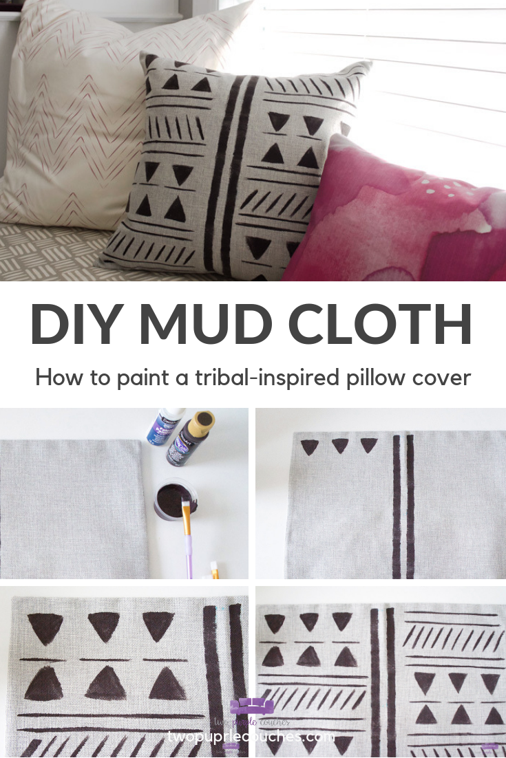 How To Make A Diy Mud Cloth Pillow Diy Pillow Covers
