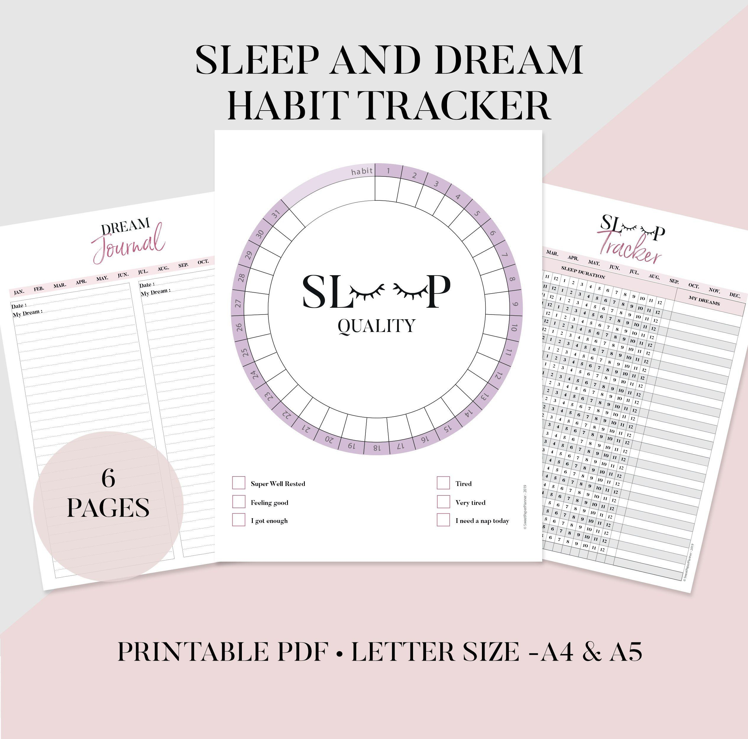 Sleep And Dream Journal Printable Sleep Log Journal