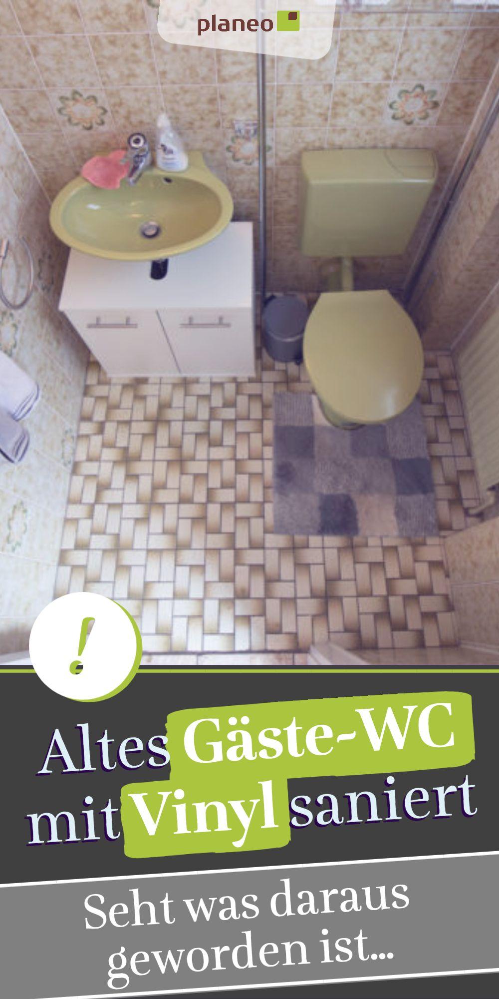 Gaste Wc Renovieren Wc Sanierung Mit Vinylboden In 5 Schritten Auch Im Bad Durchfuhrbar In 2020 Wc Renovieren Gaste Wc Vinylboden