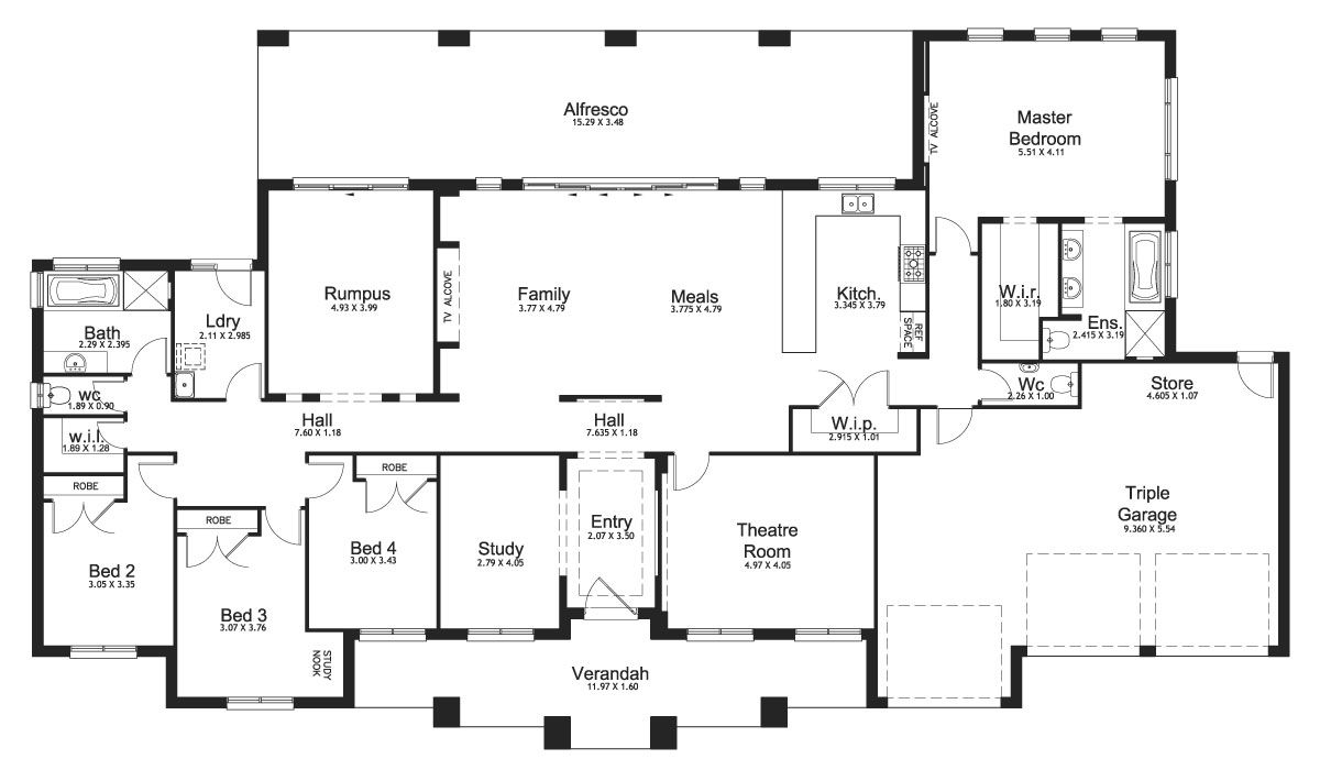 riverview 44 acreage level floorplan by kurmond homes
