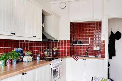Red White Country Kitchen Home Decor