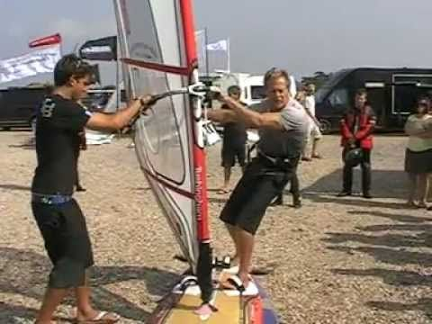 Peter Hart ▶ windsurfing lessons.Carve jibe by Peter Hart (2) - YouTube