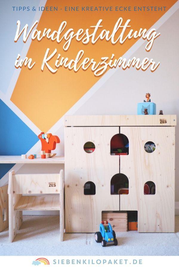 Wandgestaltung im Kinderzimmer - eine kunterbunte, kreative Ecke für - kinderzimmer kreativ gestalten ideen