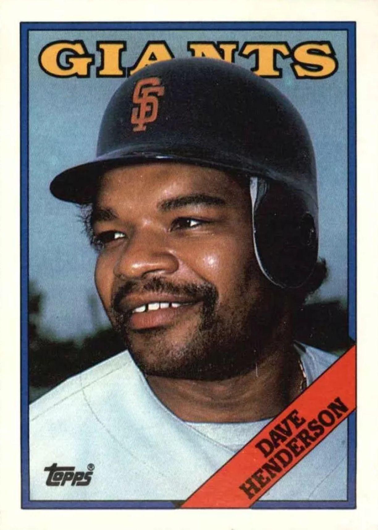1988 topps dave henderson national league baseball