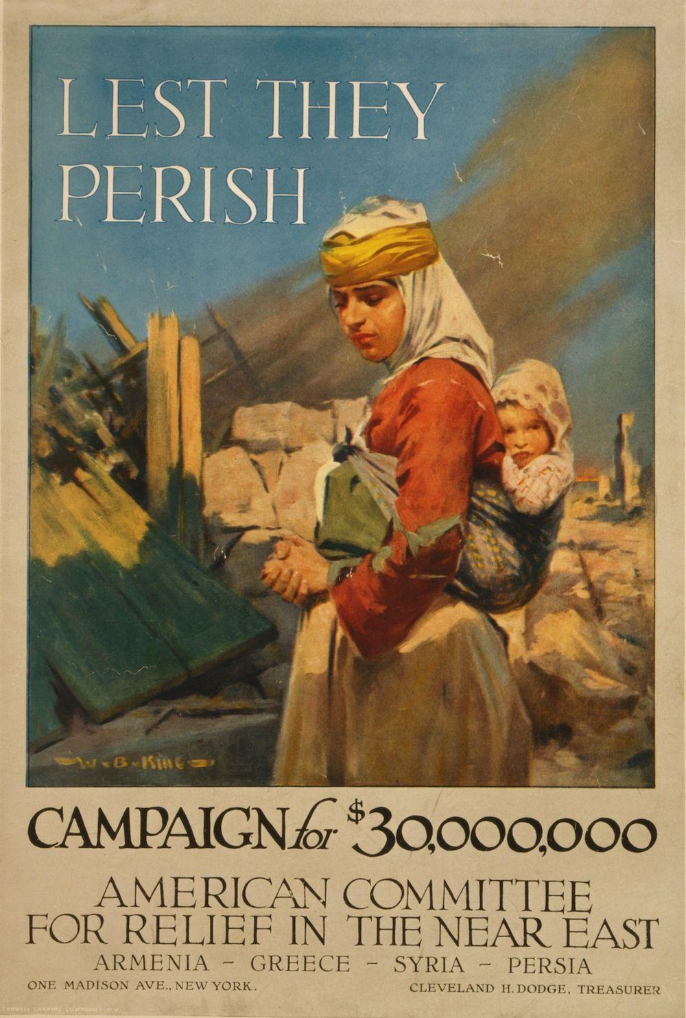 Propaganda Poster World War I Armenia Greece 1918 They Shall Not Perish