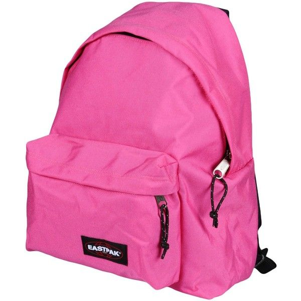 Eastpak Rucksacks & Bumbags ($52) ❤ liked on Polyvore featuring bags, handbags, fuchsia, zipper purse, back pack purse, rucksack bag, pink purse and fuschia handbag