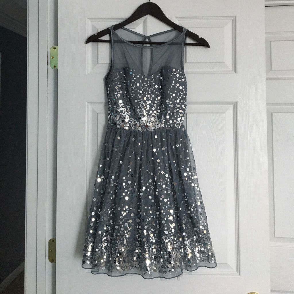 Silver sequined formal dress products