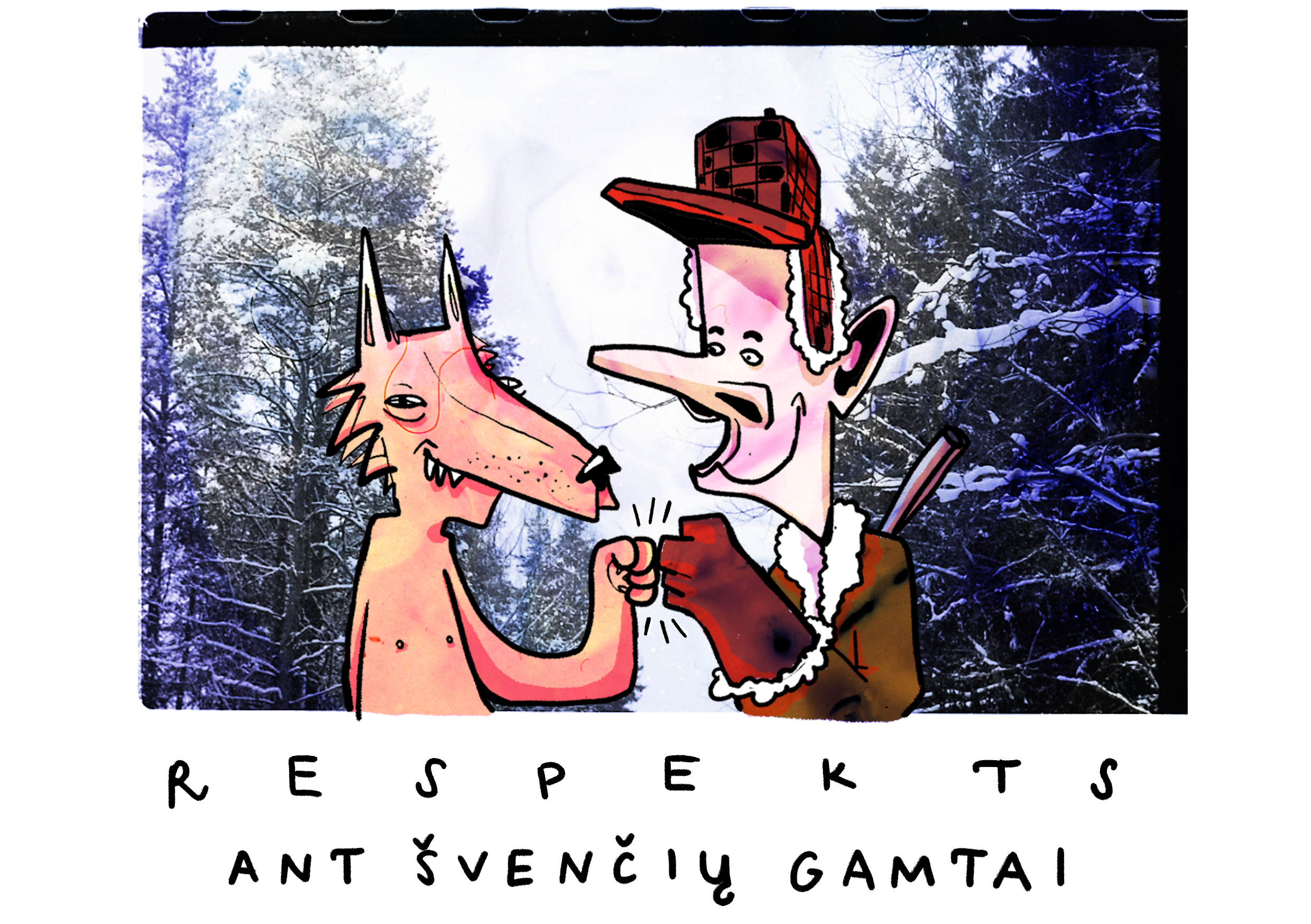 RESPECT to the forest  postcard 3