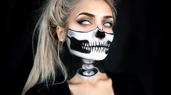 Easy Half Skull Makeup Tutorial Ad You