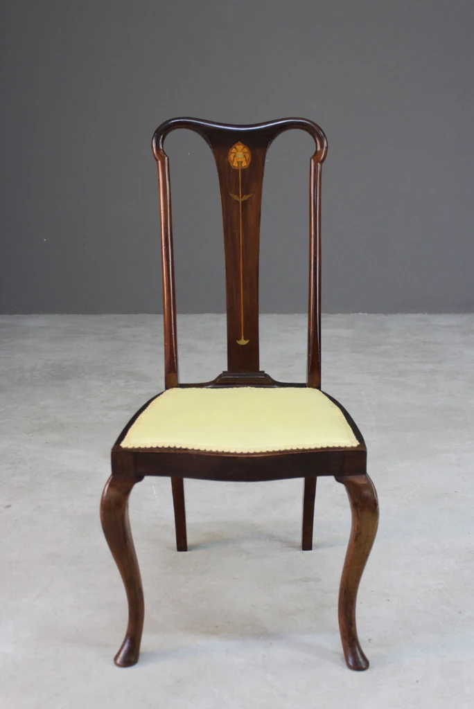 Inlaid Art Nouveau Dining Chair In 2020 Dining Chairs Antique