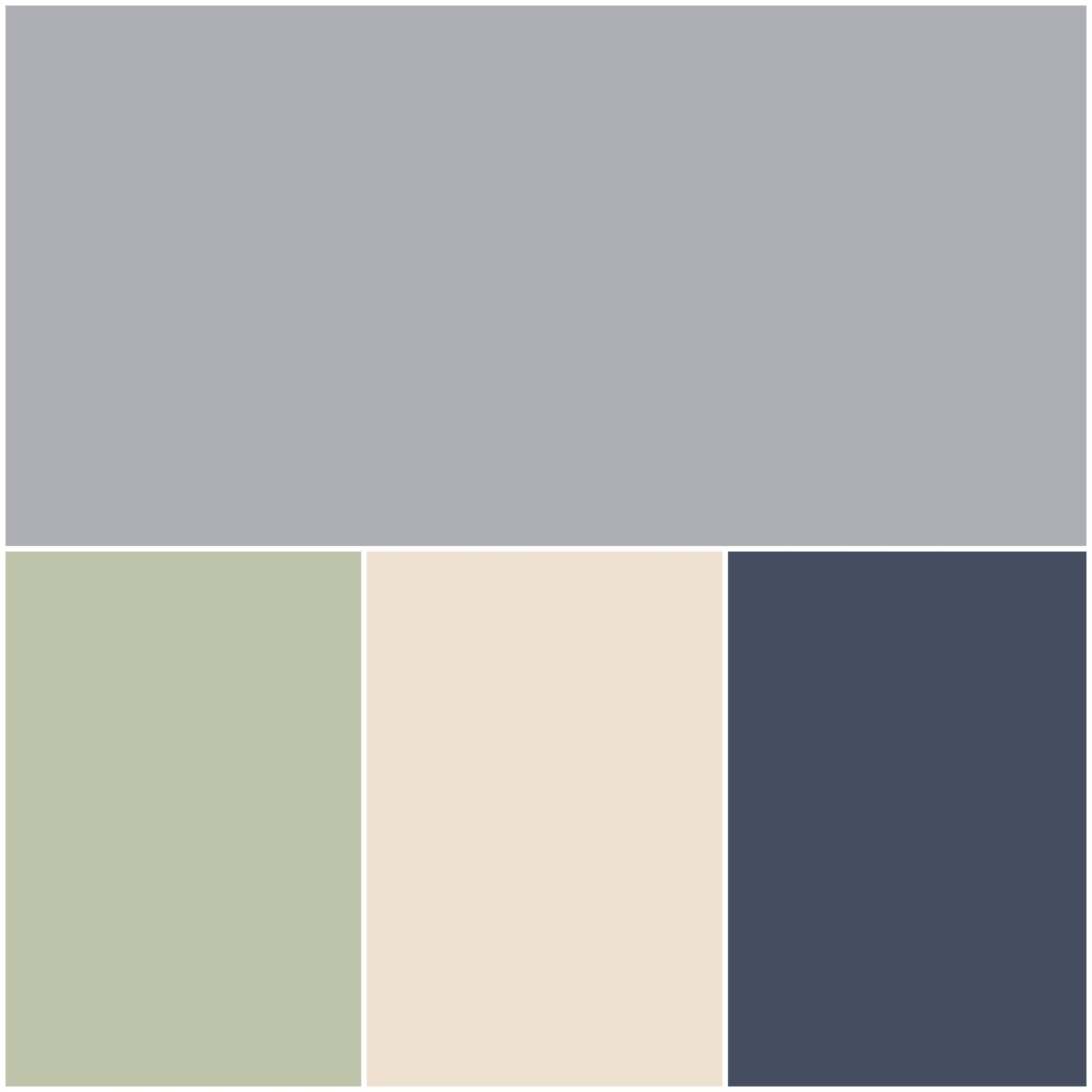 Guest Color Palette: Grey Timber Wolf, Sage, Cream Puff ...
