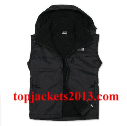 The North Face Outlet Mens Summit Series Hoodie Vest Black