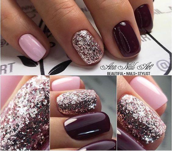 54 Autumn Fall Nail Colors Ideas You Will Love Pinterest Nail Nagellack Idee Pink Gel Nails Nails Trendy Nails