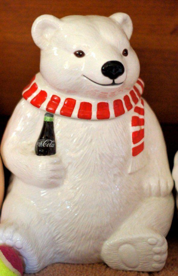 Coca Cola Polar Bear Cookie Jar