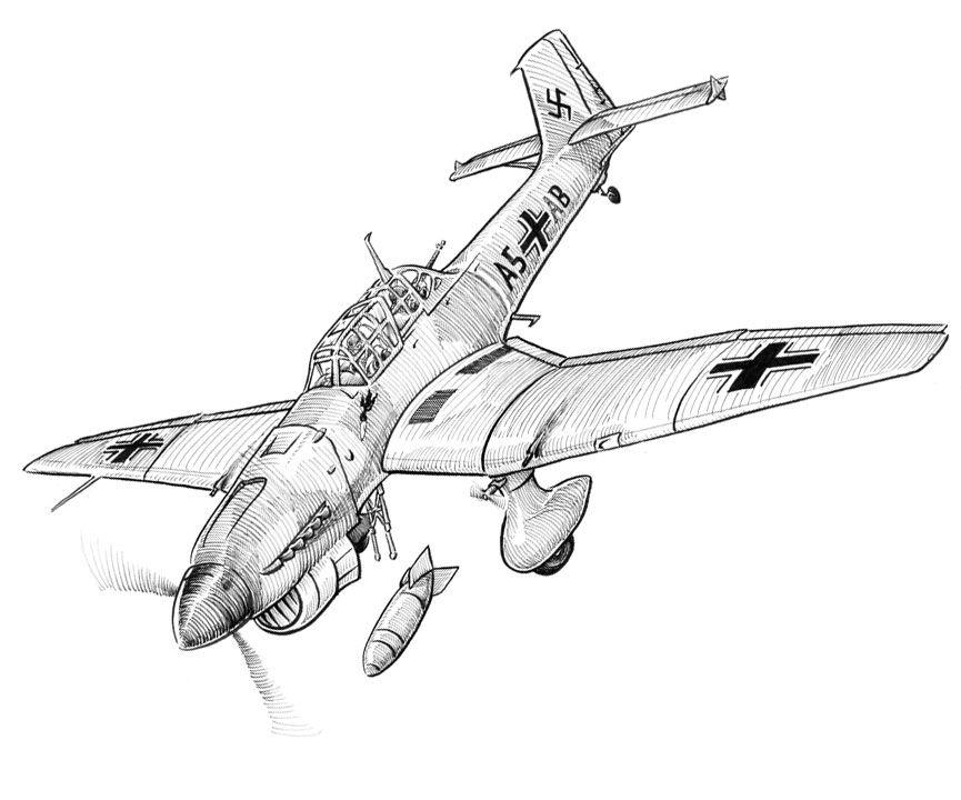 World War Two Air Combat Airplane Drawing Plane Drawing Aircraft Art