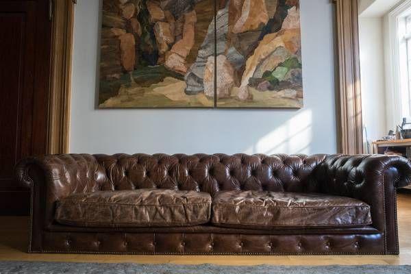 Restoration Hardware Chesterfield Cigar Leather Couch Sofa Leather Sofa Couch Couch Leather Couch