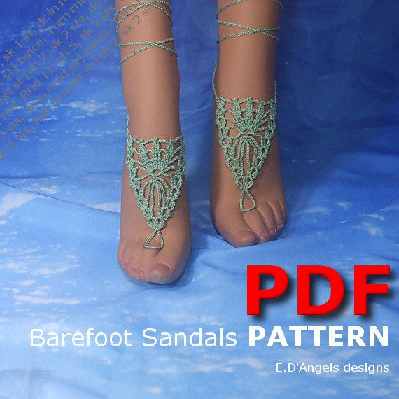 Crochet Pattern Barefoot sandals | Crochet pattern | nude shoes ...