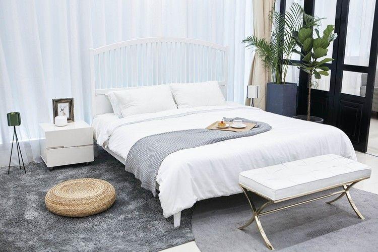 Schlafzimmer renovieren gemütlich gestalten Grau #bedroom ...