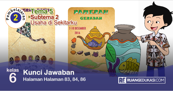 Lengkap Kunci Jawaban Buku Tematik Tema 5 Kelas 6 Wirausaha Kurikulum 2013 Revisi Buku Kunci Buku Pelajaran