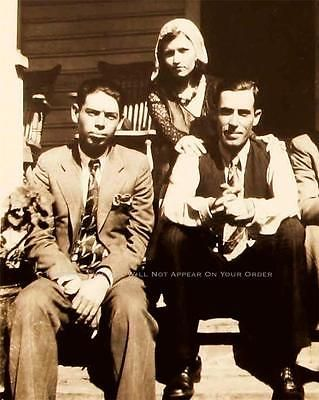 Bonnie And Clyde Photo Rare Buck Blanch Barrow W D Jones Gangster