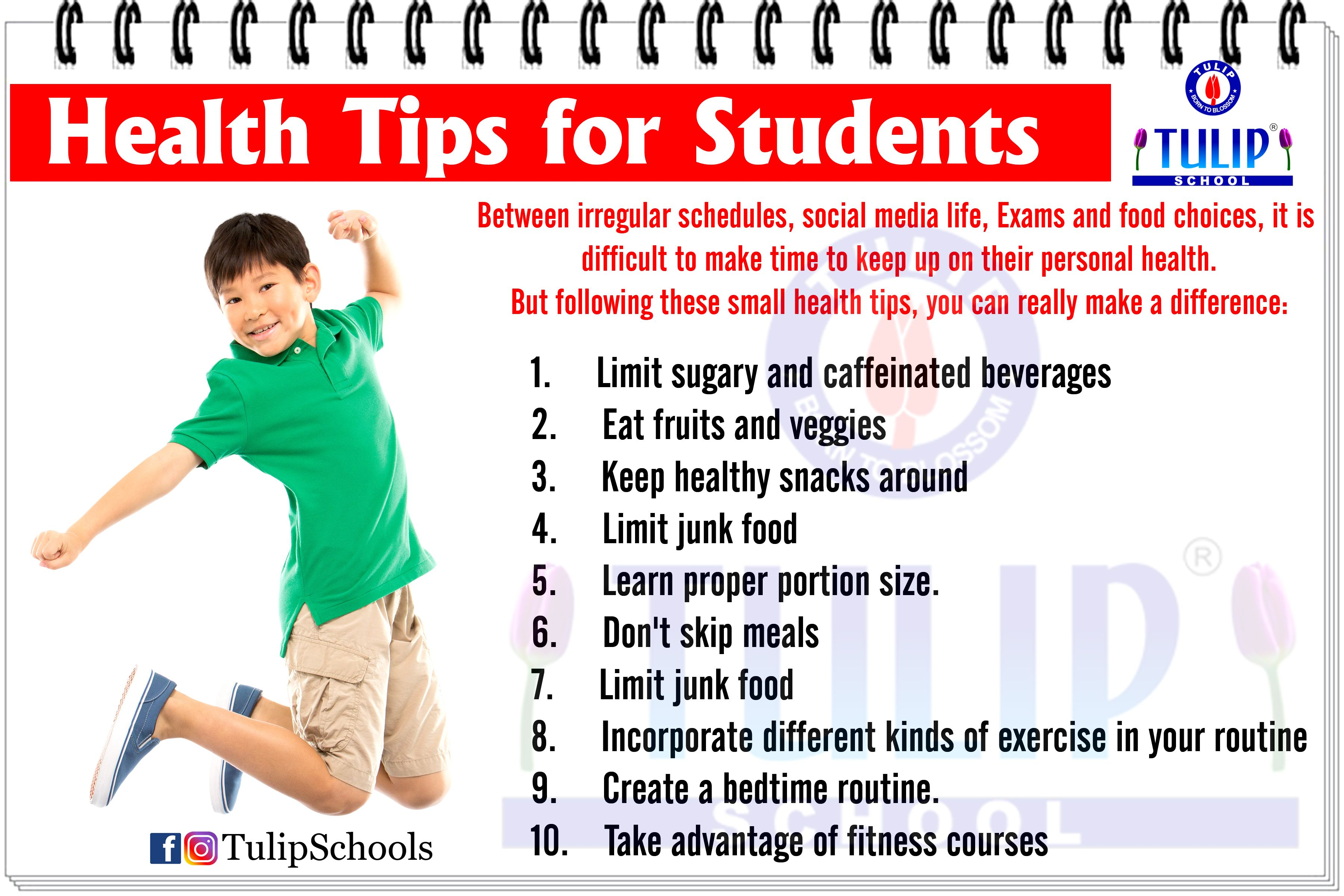 Health Tips For Students Studenthealth Healthtips