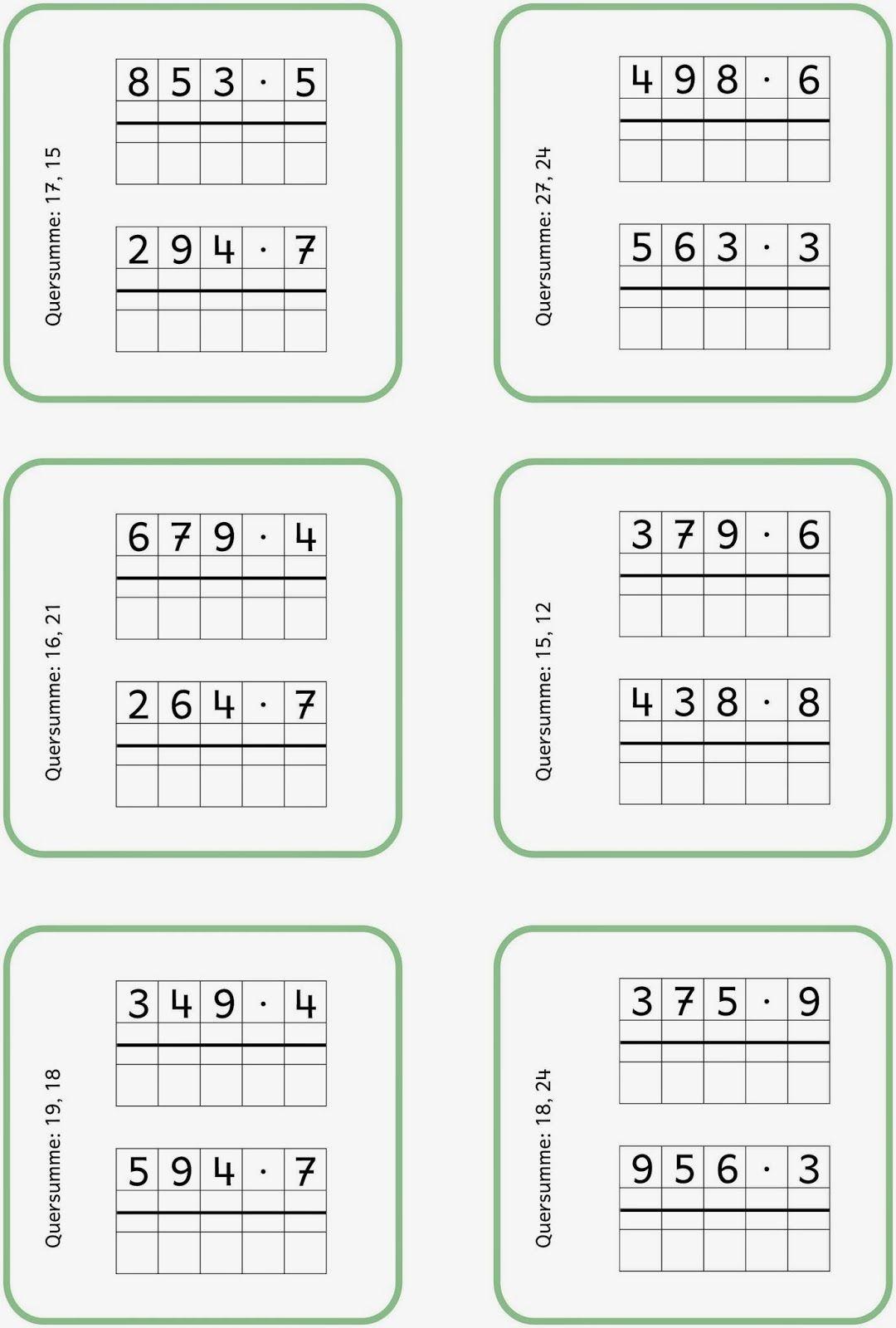 Schriftlich Multiplizieren 3