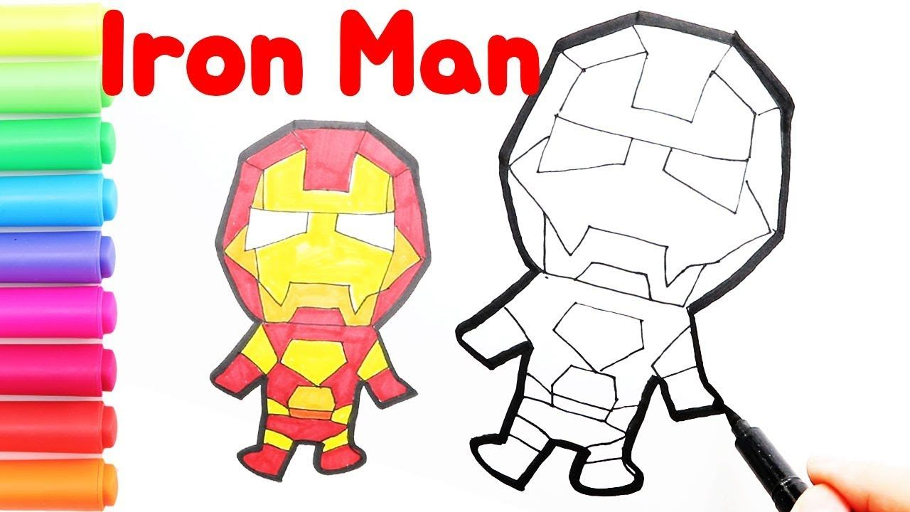 How To Draw Iron Man Avengers Coloring Cute Iron Man Coloring Page Avengers Coloring Iron Man Iron Man Avengers