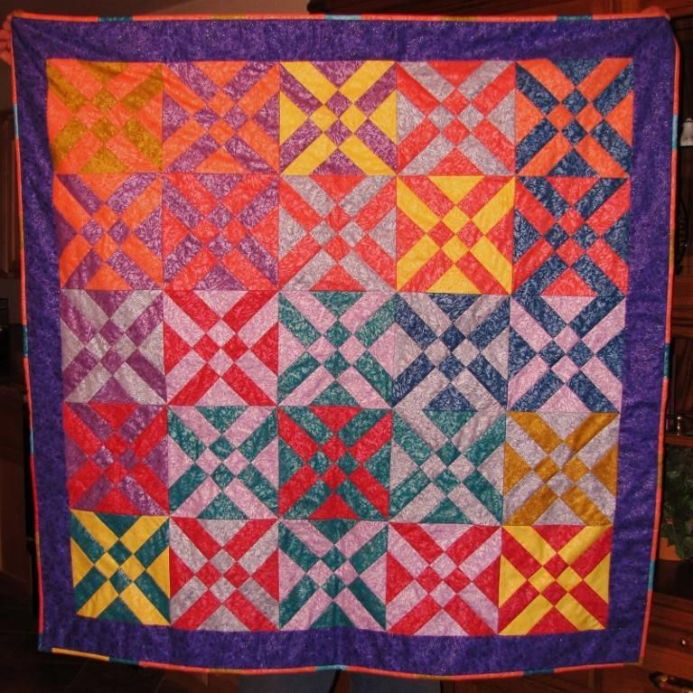 Color Shine Quilt - created using the techniques learned in the