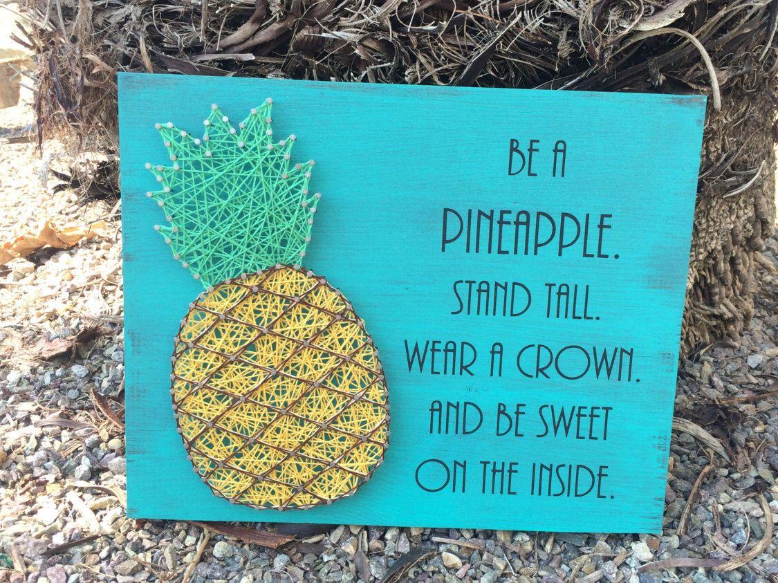 Pineapple String Art - String Art - Pineapple Decor - Pineapple Sign ...