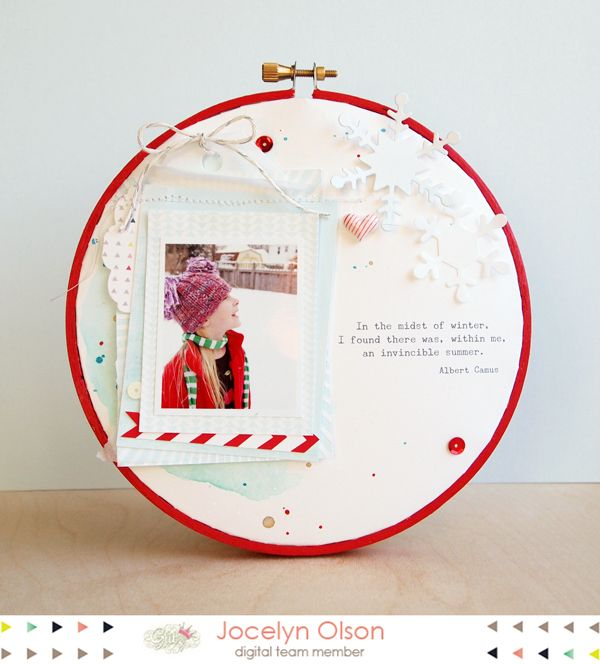 Paper in embroidery hoop - Glitz Design