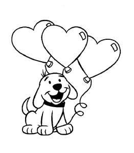 Coloring Page Valentine S Day Dog Pets Puppy Coloring
