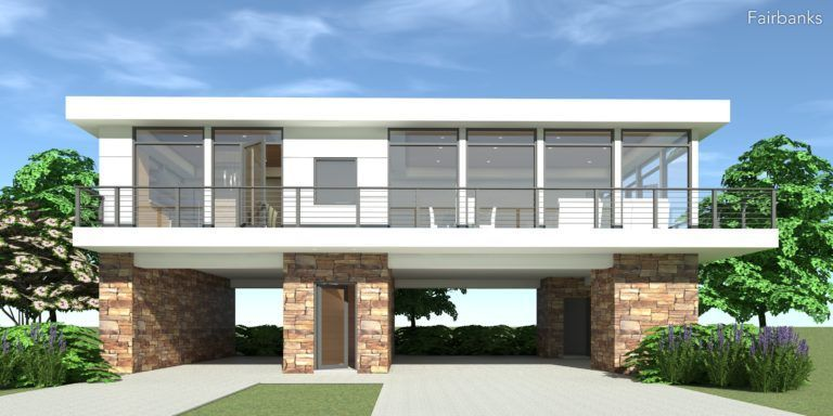 Plan 21040DR 2 Bedroom Ranch with Carport Ranch house
