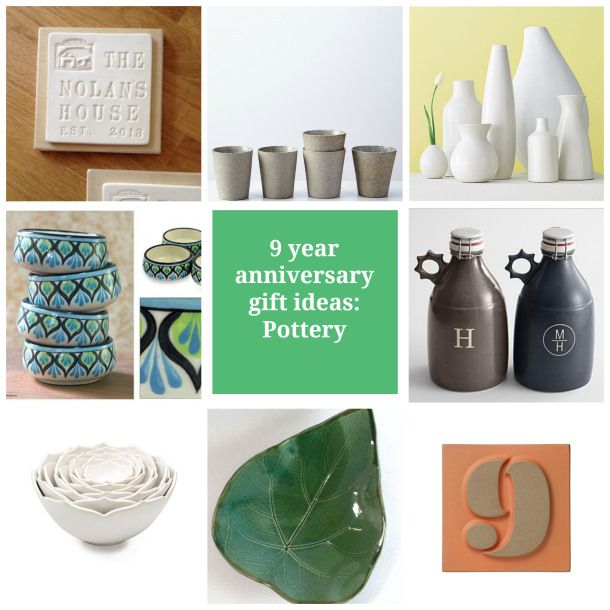 9th Year Wedding Anniversary Gifts: 9 Year Anniversary Gift Ideas Pottery, Traditional
