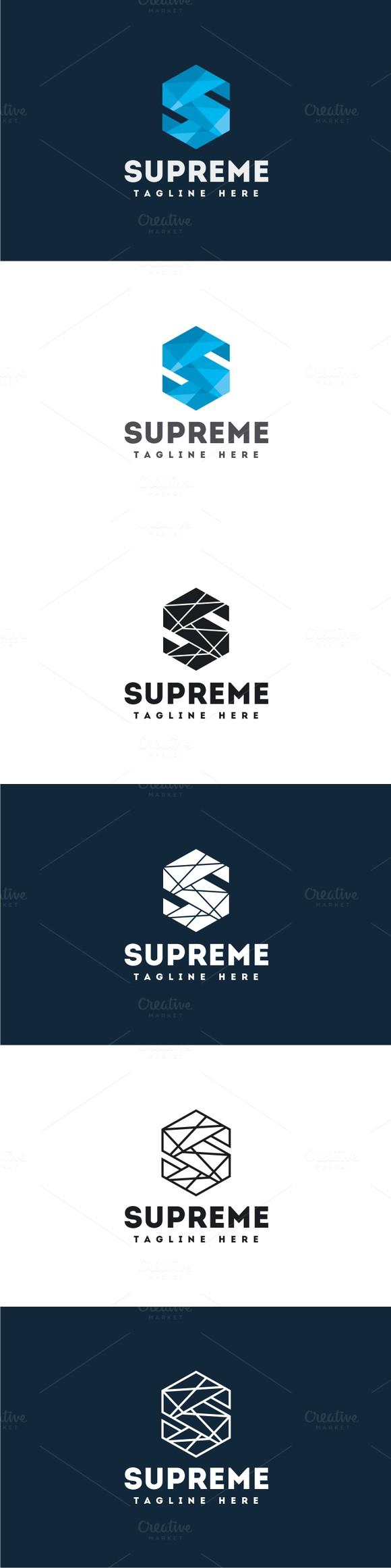 Supreme Letter S Logo. Logo Templates. 30.00 Logo