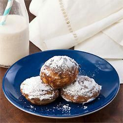 Photo of For Hanukkah – Aebleskiver meets Sufganiyah, Gluten Free. A delicious bite sized…