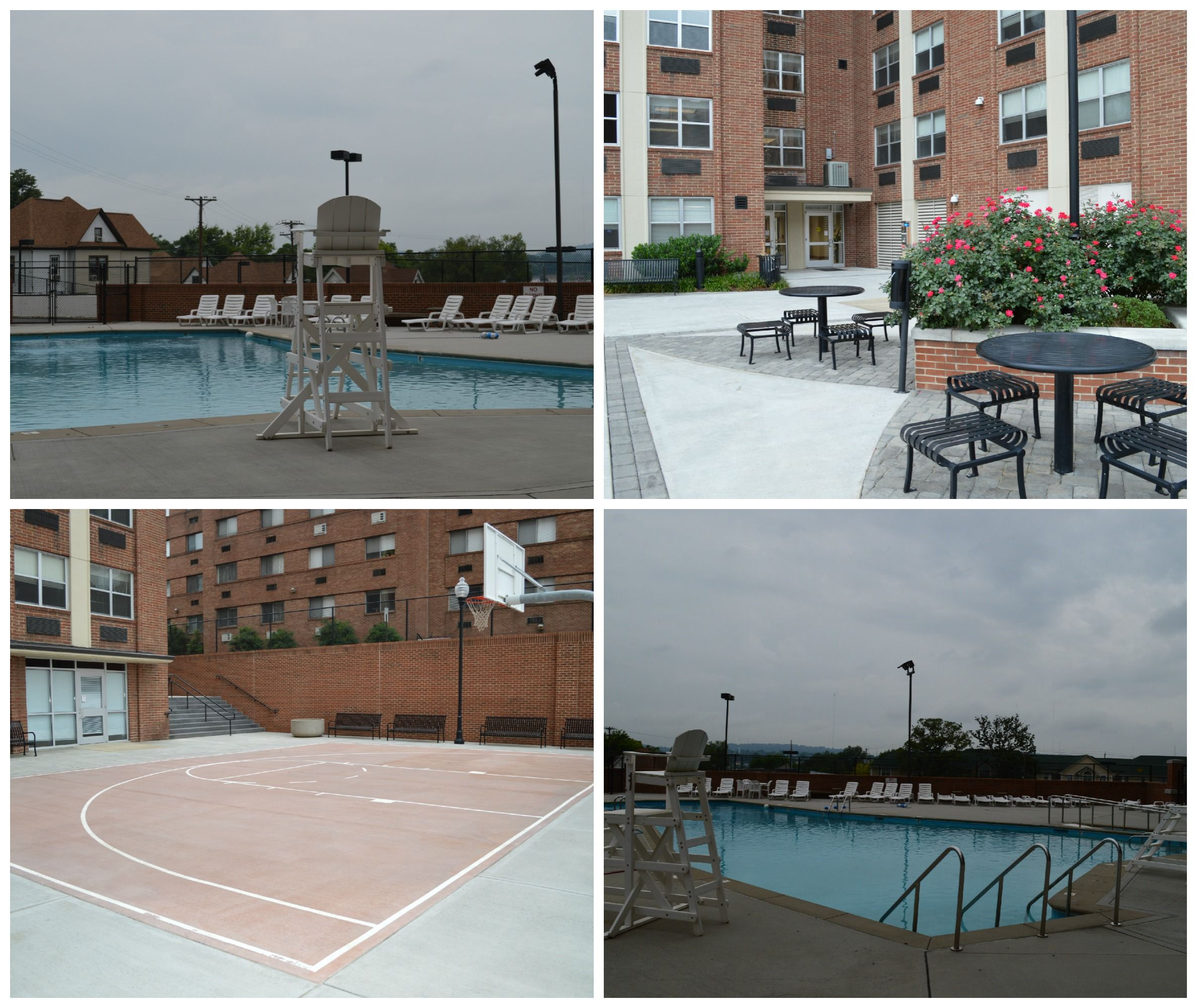 Laurel Hall Outdoor Area And Pool Outdoor Area Apartment Style Residence Hall
