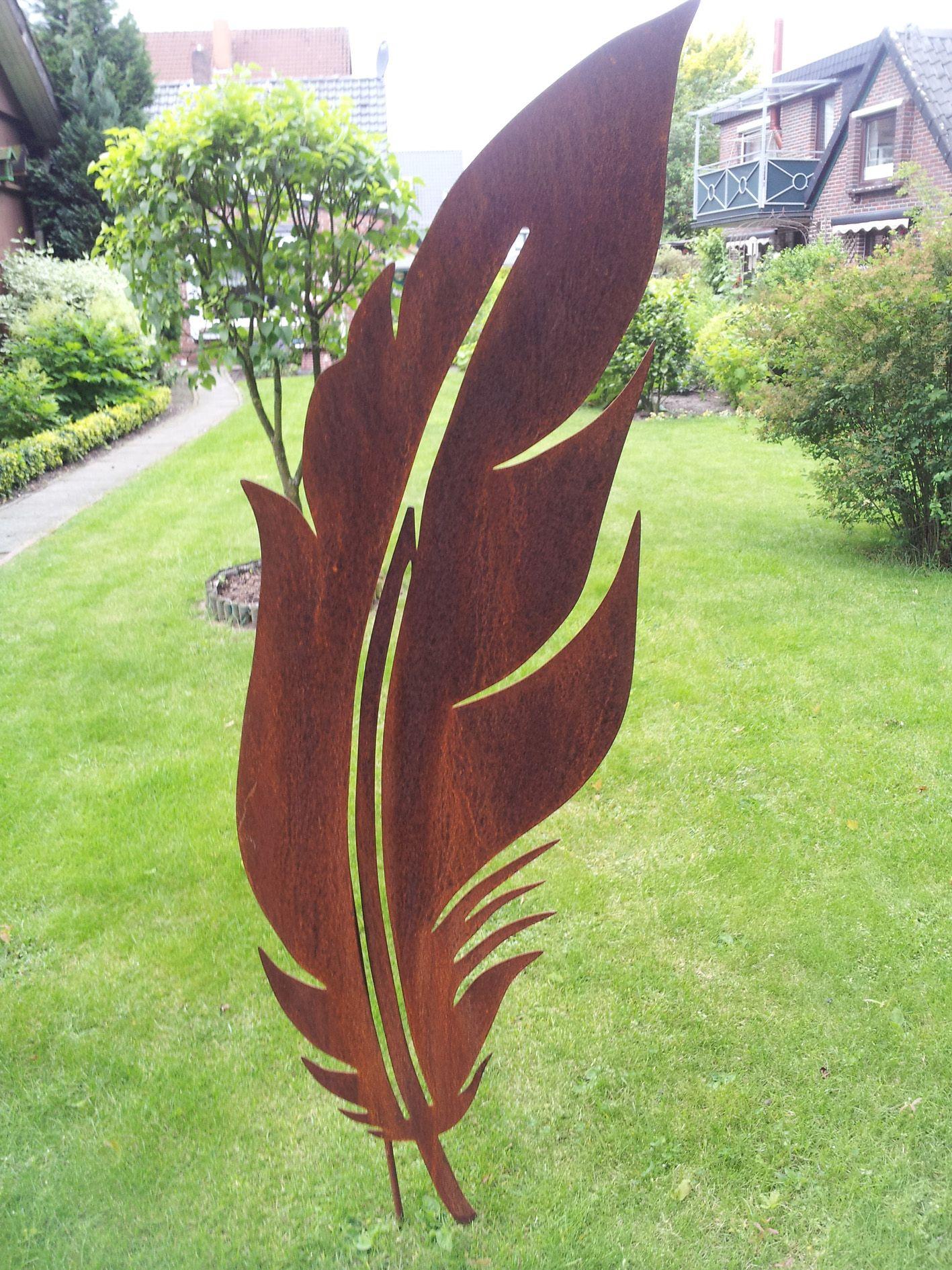 Gartendekoration Rost Feder 2 Verschiedene Gartenstecker Viele Themen Dekoschmiede Comgartenskulptu Schrottplatzkunst Metall Gartenkunst Gartendekoration