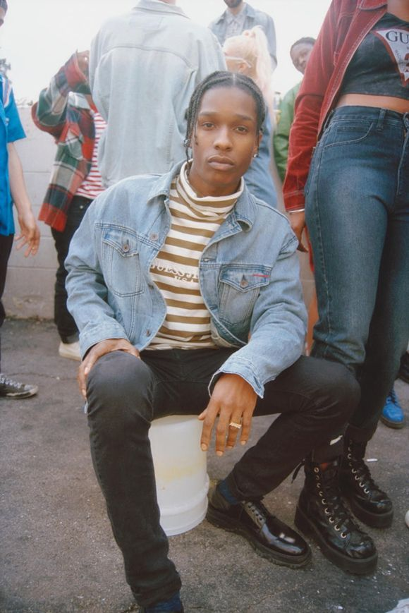A$AP Rocky Goes Full 90s Mum For Guess Collab | Fashion Magazine | News. Asap  Rocky StyleDenim JacketsJean ...
