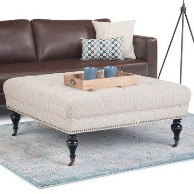 Incredible Marcel Large Square Coffee Table Ottoman Platinum Tweed Ocoug Best Dining Table And Chair Ideas Images Ocougorg