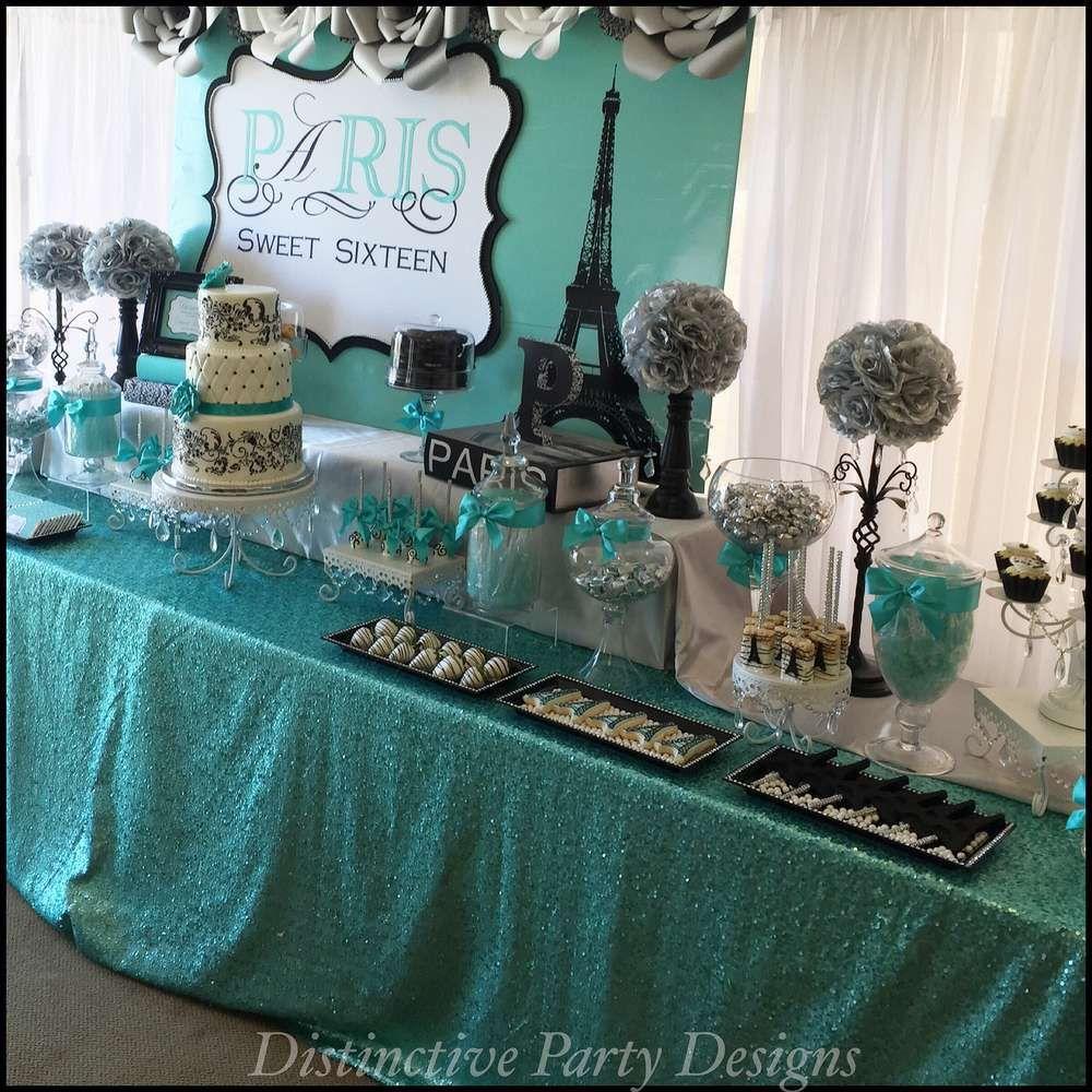 Tiffany Themed Party For Keira S 18th Birthday: Paris Birthday Parties, Paris