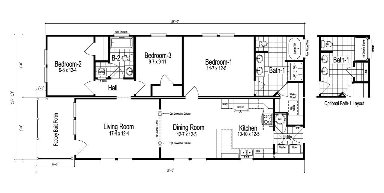 Palm Harbor S The Garland Is A Manufactured Home Of 1 333 Sq Ft With 3 Bedroom S And 2 Bath S Floor Plans Modular Floor Plans Manufactured Homes Floor Plans