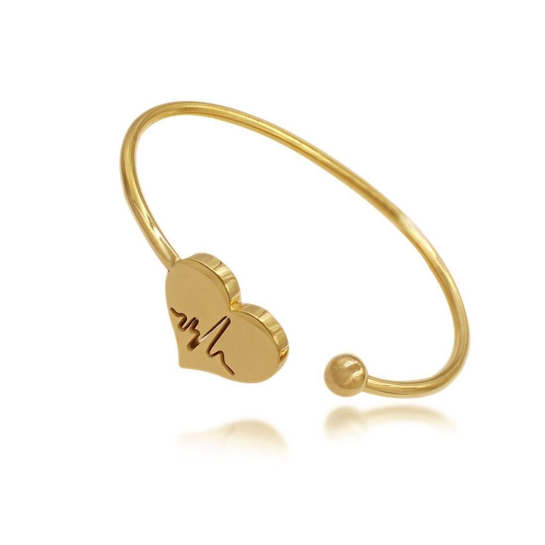 2017 Latest Fashion Heart Charms Gold Bracelet For Women