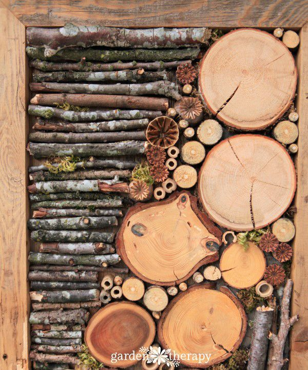 Jazz Up the Outdoors with DIY Bug Hotel Fence Art
