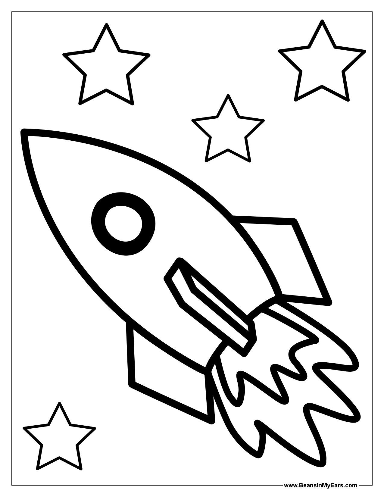rocket ship coloring pages # 4